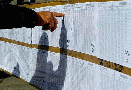 Ciudadano durante las pasadas elecciones electorales.