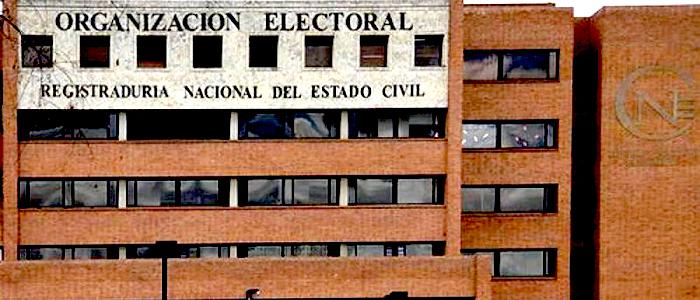 Sede de la Registraduría Nacional del Estado Civil en Bogotá.