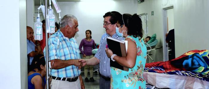 Pacientes en el Hospital Erasmo Meoz en Cúcuta, Norte de Santander.