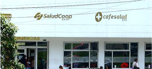 Sede de la EPS Saludcoop en Bogotá.