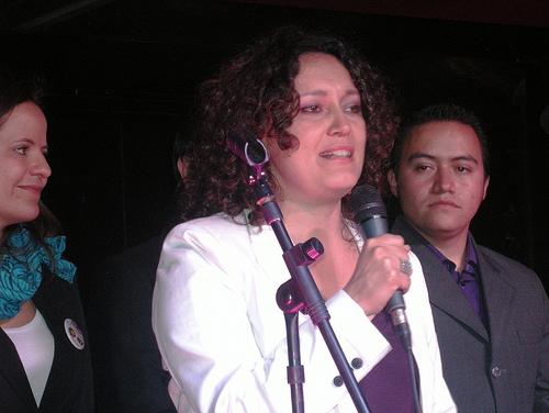 La Representante a la Cámara por Bogotá, Angélica Lozano.