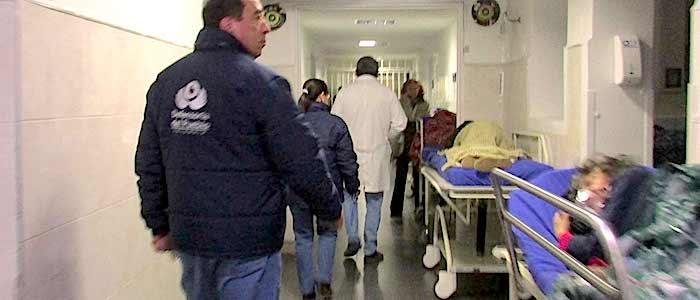 Visita de la defensoría del pueblo al área de Urgencias del Hospital de Engativá.