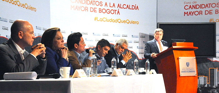 Foro de candidatos a la Alcaldía de Bogotá.
