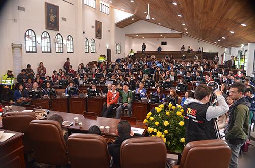 Sesión del Concejo de Bogotá.