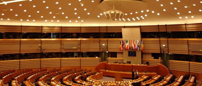 Parlamento Europeo en Bruselas, Bélgica.