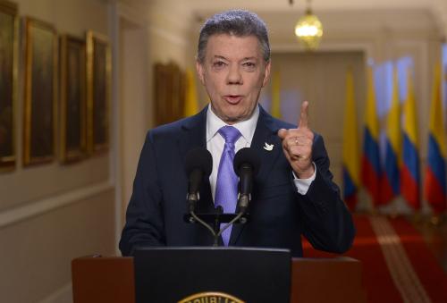El Presidente Santos denuncia la situación de los expatriados en la frontera Colombo-Venezolana.