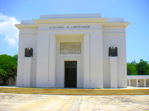 Altar de la Patria en la Quinta de San Pedro Alejandrino, en Santa Marta.