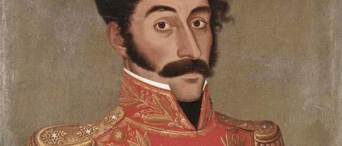 Retrato de Simón Bolívar por José Gil de Castro, 1828.