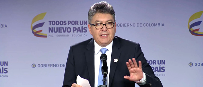 El Ministro de Hacienda, Mauricio Cárdenas.