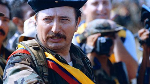 Víctor Julio Suárez Rojas alias Mono Jojoy, durante los diálogos de paz en el Gobierno de Andrés Pastrana.
