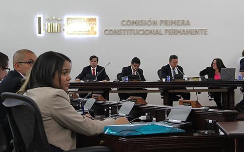 Comisión Primera del Congreso de la República.