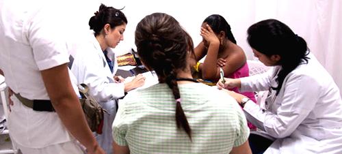 Atención a pacientes de cáncer de mama.