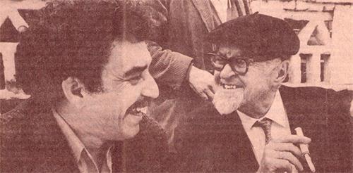León de Greiff y Gabriel García Márquez, foto de Nereo López.