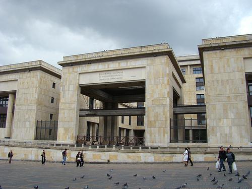 Palacio de Justicia en el centro de Bogotá.