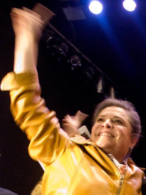 La candidata a la Alcaldía de Bogotá, Clara López Obregón.