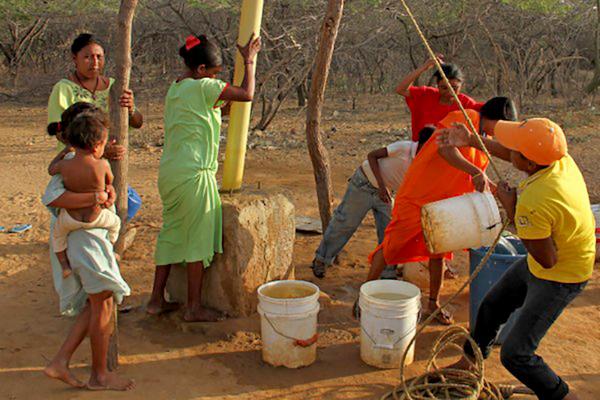 De 350 reservorios en el municipio guajiro de Uribía solo uno tiene agua.