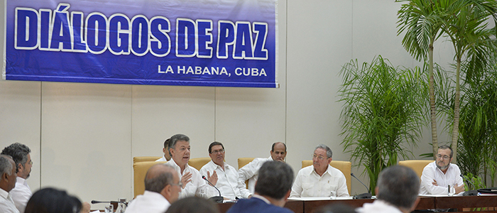 Habana, junto al presidente cubano Raúl Castro.