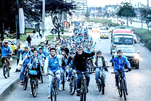 Bici-recorrido del Alcalde Electo por Puente Aranda, Kennedy y Fontibón.