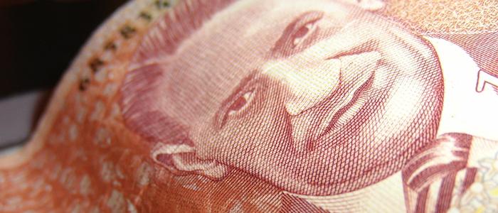 Billete de mil pesos colombianos con la imagen del caudillo Jorge Eliécer Gaitán.