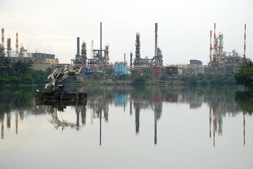 Refinería de Petróleo en Barrancabermeja, Santander.