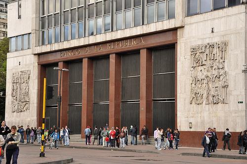 Sede principal del Banco de la República en el centro de Bogotá.