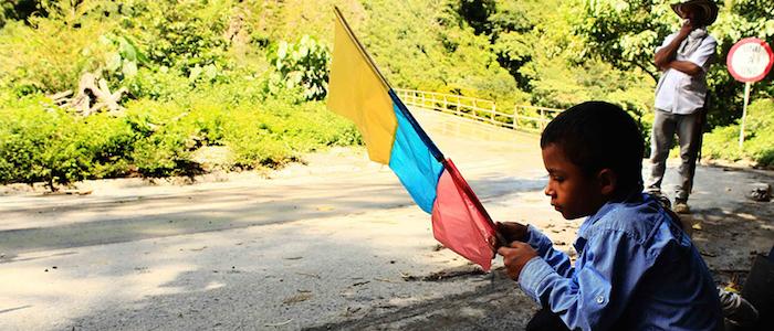 Niño poblador del municipio de Ituango en Antioquia.