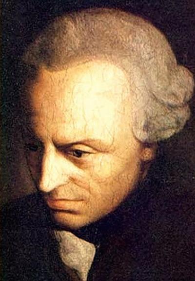 Retrato del filósofo alemán, Immanuel Kant.