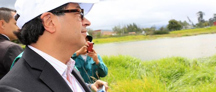 El Alcalde Mayor, Gustavo Petro.