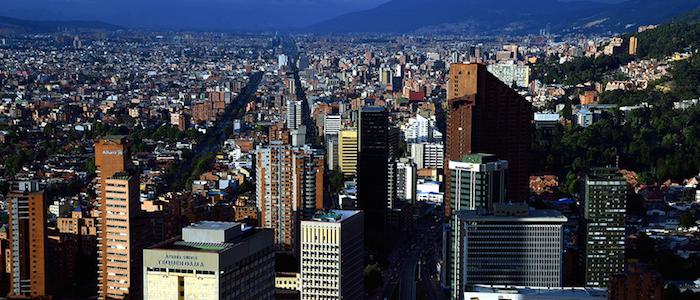 Panorámica de Bogotá desde el centro.