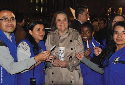 La Candidata a la Alcaldía de Bogotá por el PDA, Clara López Obregón.