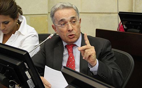 El Senador y Jefe natural del partido Centro democrático, Álvaro Uribe Vélez.