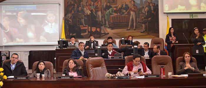 Sesión en el Concejo de Bogotá.