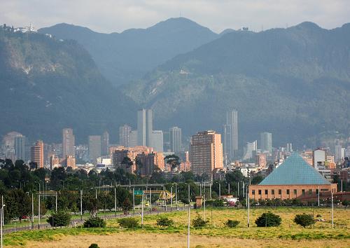 Vista de la sede de la Gobernación de Cundinamarca y el centro de Bogotá.
