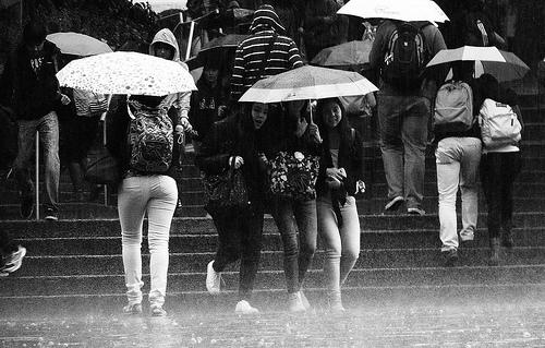 Tarde lluviosa en Bogotá.