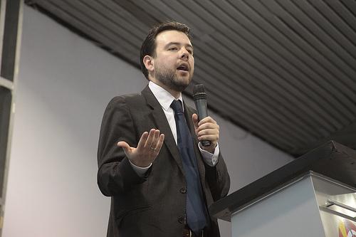 El Presidente del partido Cambio Radical, Carlos Fernando Galán.