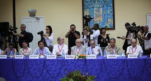 Comisión de la Verdad del Conflicto y sus Víctimas en La Habana, Cuba.