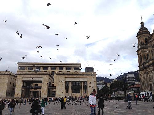 Palacio de Justicia en la Plaza de Bolívar de Bogotá.
