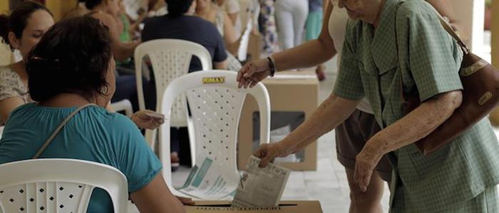Puestos de votación durante las pasadas elecciones presidenciales.