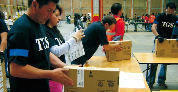 Preparación de la jornada electoral.