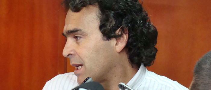 El Exalcalde de Medellín y actual Gobernador de Antioquia, Sergio Fajardo.