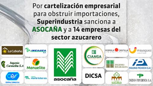 Empresas del sector azucarero sancionadas por la Superintendencia de Industria y Comercio.
