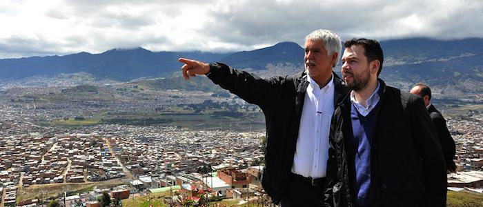 El Alcalde electo Enrique Peñalosa con el Presidente de Cambio Radical, Carlos Galán.