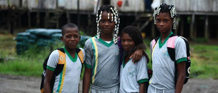 Niños afrocolombianos en Riosucio, Chocó.