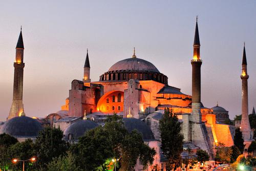 Hagia Sophia en Estambul, Turquía.
