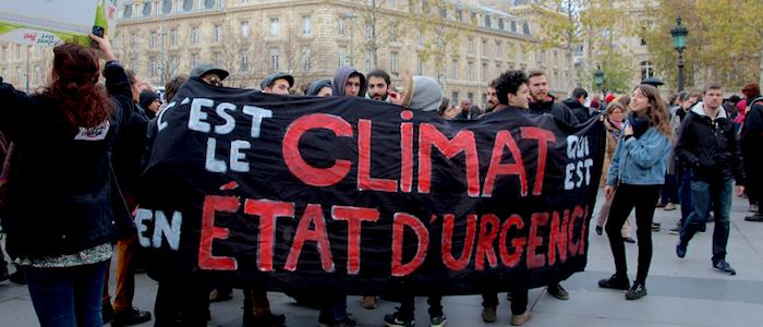 Protestas en París en el marco de la Conferencia del Cambio Climático de las Naciones Unidas.