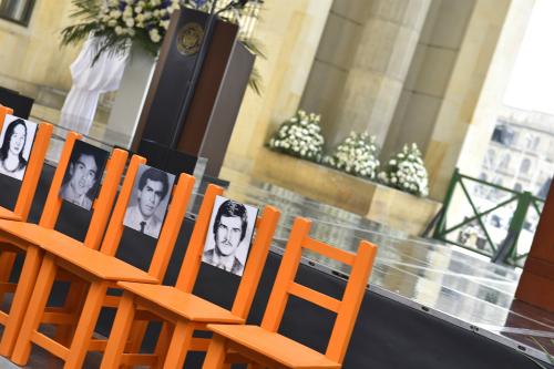 Conmemoración de los 30 años del Holocausto del Palacio de Justicia.