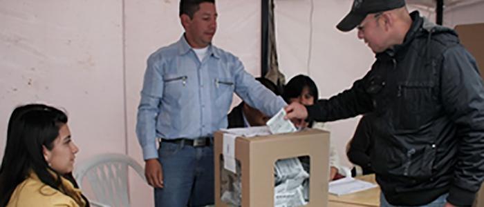 Jornada electoral del pasado 25 de octubre.