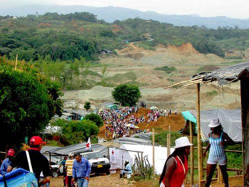 Minería ilegal en Santander de Quilichao, Cauca.