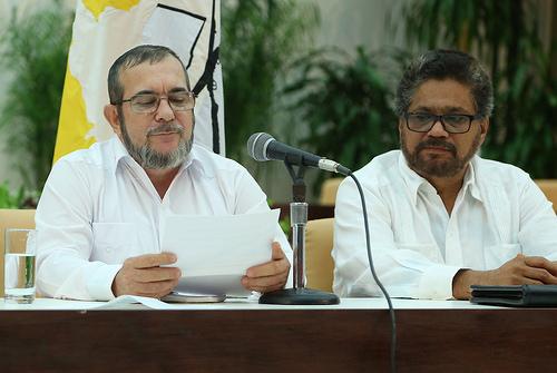Las delegaciones de paz del Gobierno y las FARC en La Habana, cuba.
