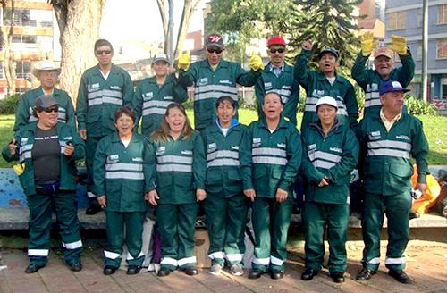 Recicladores de oficio hacen parte del Programa Basura Cero en la localidad de Chapinero.